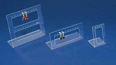 Lot Of 3 Clear Acrylic Earring Display Set Tradeshow Display Counter Top Stands