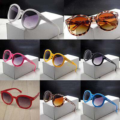 Retro Eyewear Children Boys Girls Chic Glasses UV 400 Round Sunglasses