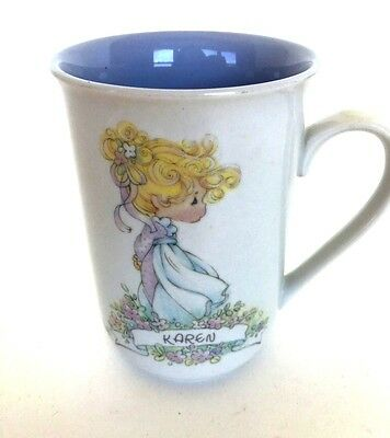 "Precious Moments Cup ""Karen"" with Meaning of Name Mint"