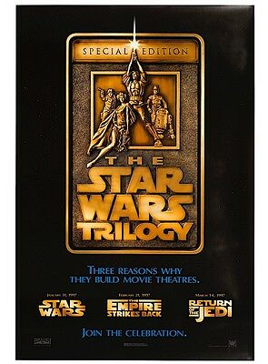 Original Star Wars Trilogy Special Edition US One sheet Teaser Poster 1997