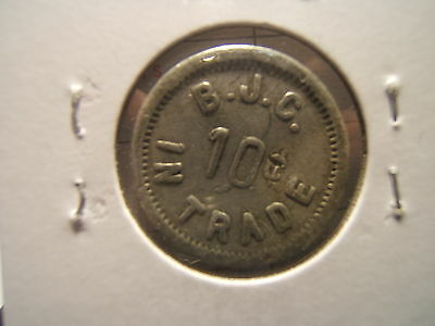 RARE: B.J.C.  10c   IN TRADE TOKEN  25 mm