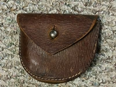 WW1 british leather revolver ammo pouch 1917 dated for sam browne/p14 belt