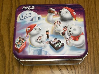 Coca-Cola Polar Bears Uno Limited Edition Card Game In Tin-Never Used-New Mattel