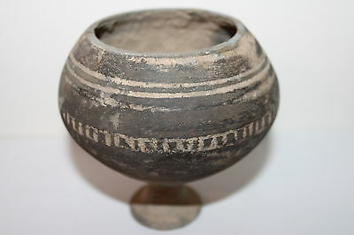 Ancient Indus Valley Pottery Stem Chalice Cup 2800 1800 Bc Harappan