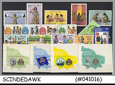 MINI LOT of GIRLS GUIDE / SCOUT DIFFERENT COUNTRIES - 19V - MINT NH