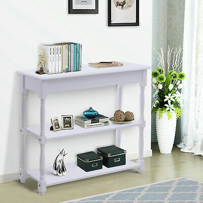 HOMCOM Wood Accent style Entryway Console Table Hallway Living Room Furniture