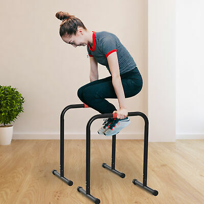 Set of 2 Push Up Stands Parallel Strength Training Exercise Workout Home Gym
