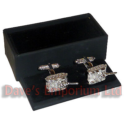 Tank Cufflinks Silver - Gift Boxed - Armoured Corps RAC - The Cufflink Store