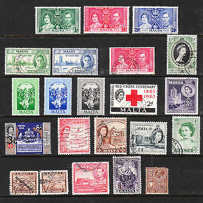 MALTA Collection  Used and Mint Stamps