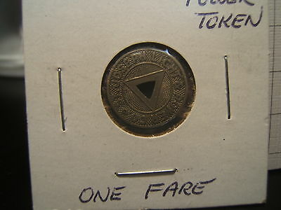 Rare St Joseph Light & Power Co. Transit Token GOOD FOR ONE FARE 17MM