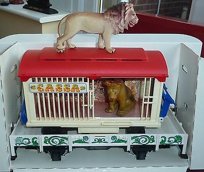 Lgb - G Scale - Flat Bed Tram With Lion Cage (4038)