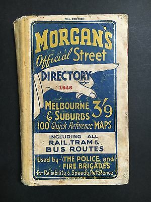 Morgans 1946 Official Street Directory 28Th Edition Inc: Rail, Tram & Bus Routes