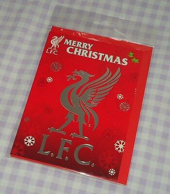 Official Liverpool Football Club Supporters Team Crest Christmas Card Bnip
