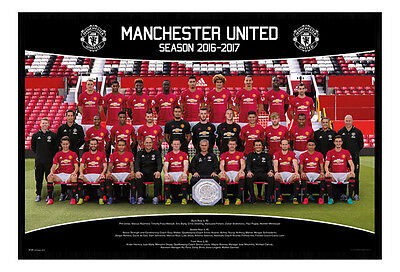 Framed Manchester United Team Squad 2016 - 2017 Poster New
