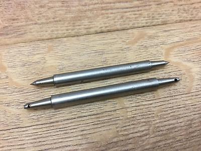 2 WATCHMAKERS LATHE 7mm TAILSTOCK RUNNERS IN VGC