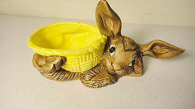 Ceramic Rabbit with Basket   Free Shipping