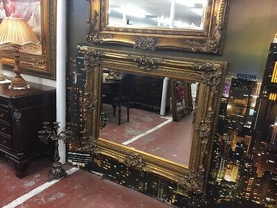 Large French Gild Bevelled Mirror