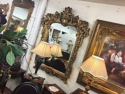 Large French Gild Ornate Mirror