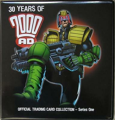 2000AD Judge Dredd Trading Card Binder + Base Set + Chase Set & Binder Pages