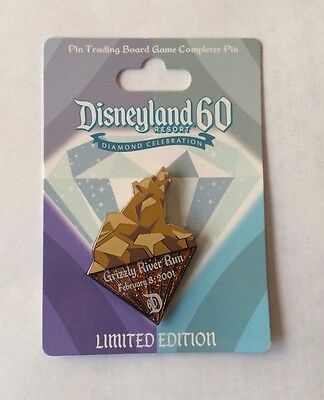 Disneyland 60th Anniversary Celebration Board Game Grizzly River Run pin