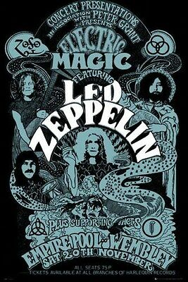 LED ZEPPELIN ~ ELECTRIC MAGIC ~ 24x36 Music Poster ~ Robert Plant Jimmy Page