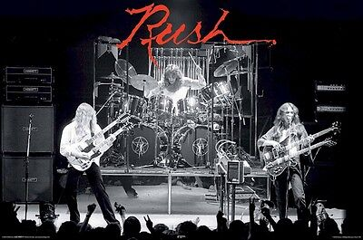 RUSH ~ HEMISPHERES ON STAGE 24x36 MUSIC POSTER Alex Lifeson Geddy Lee Neil Peart