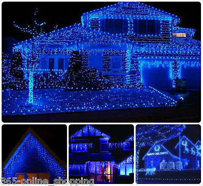 720 LED Multi Function Ice Blue Christmas Snowing Icicle Lights indoor/Outdoor