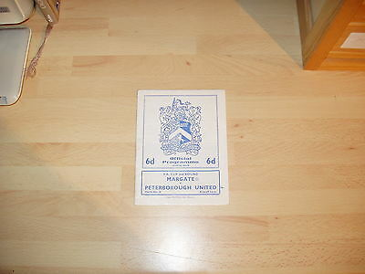 Margate v Peterborough FA Cup 2nd Rd 1967/8