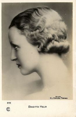 Brigitte Helm movie star G.L Manuel Freres photo postcard
