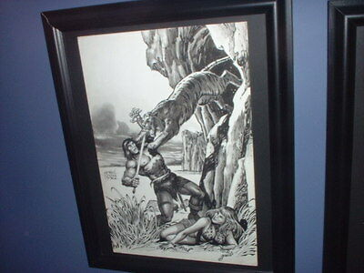 Ernie Chan 1982 Original Pin-Up Art Published In Savage Sword Of Conan / Amazing