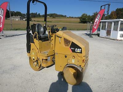 "2009 Caterpillar Cb14 Vibratory Roller, 35"" Double Smooth Drums, Water System"
