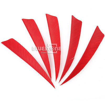 50pcs Peltate Arrow Flights Fletchings Shield Turkey Archery Feathers RW 4inch