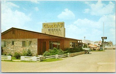 "Tucumcari, NM Route 66 Postcard CIRCLE ""S"" MOTEL Highway 66 Roadside c1960s"