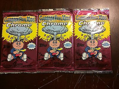 2013 Topps Chrome Garbage Pail Kids Lot Of 3 Packs Factory Sealed L@@k