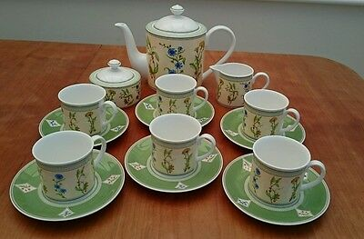 VILLEROY & BOCH EDEN TEASET x 6 NEW AND UNUSED-BEAUTIFUL SERVICE