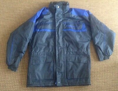 """harry Hall waterproof riding coat size 32"""" blue excellent condition"""