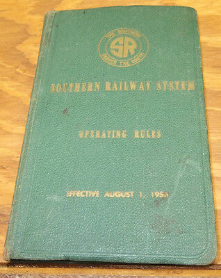 1956 Booklet//OPERATING RULES, SOUTHERN RAILROAD RAILWAY SYSTEM