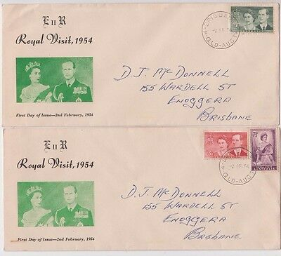 Stamps Australia Royal Visit Standard Stamp Co pair long cachet first day cover