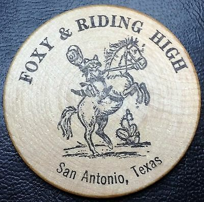 Lucky Texas Wooden Dollar (Nickel): Foxy & Riding High - FREE COMBINED S/H
