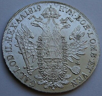 Austria 1 THALER 1819 A Silver Mint State Proof Like Surface Superb!
