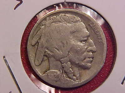 1920 S Buffalo Nickel - Light Scratches On Reverse - Vg - See Pics! - (N4759)