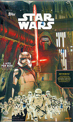 2015 Topps Star Wars Force Awakens Series 1 Sealed 24-pack HOBBY Box 2 Hits/box