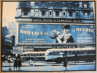 Rob Jones Jack White Stripes New York City '12 Poster Signed & Numbered