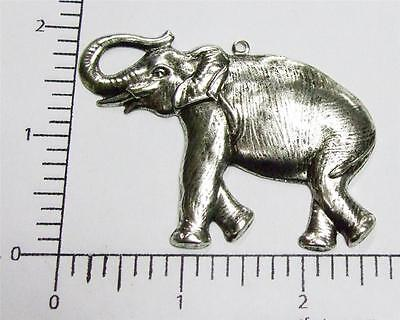 44434        Matte Silver Oxidized Large Elephant Charm Jewelry Finding
