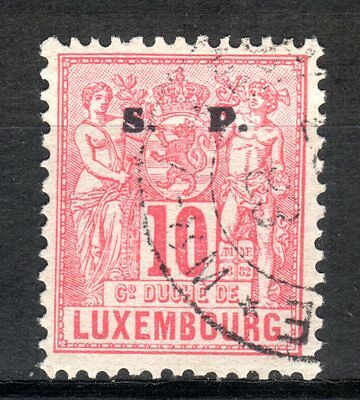 1882 Luxembourg 10C Rose Industry & Commerce Official Used
