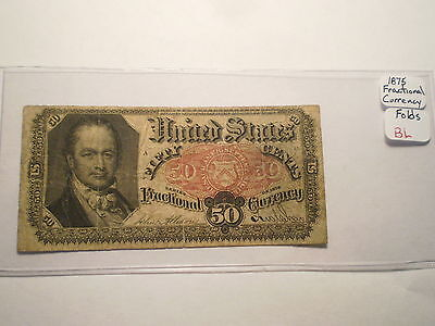 50 CENT U.S. FRACTIONAL CURRENCY NOTE/ 5th ISSUE/ FOLDS