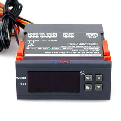110V Electronic Air Humidity Humidistat Hygrometer Control Controller Fast USA