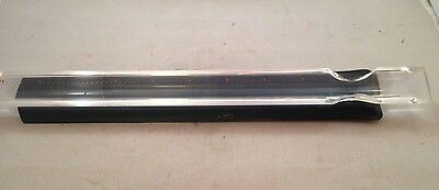 """Vintage Bausch & Lomb 8"""" Magnifying Acrylic Ruler w/ Case"""
