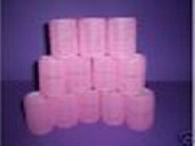 HAIRDRESSING 12 x **EXTRA  LARGE** PINK CLING HAIR ROLLER CURLERS 45mm
