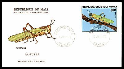 June 12, 1978 Crickets Insects Mali First-Day Cover Illustrated Entomology